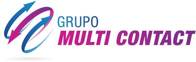 Logo da Grupo Multi Contact em negativo
